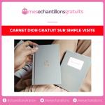 Notebook Dior gratuit sur simple demande
