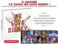 10 packs We Love Disney à gagner !