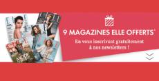 9 numéros offerts du magazine ELLE