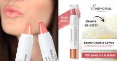 100 Baumes Douceur Lèvres d'Embryolisse à tester