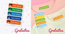 5 étiquettes pour vêtements personnalisées Stikets à 0.59€ seulement