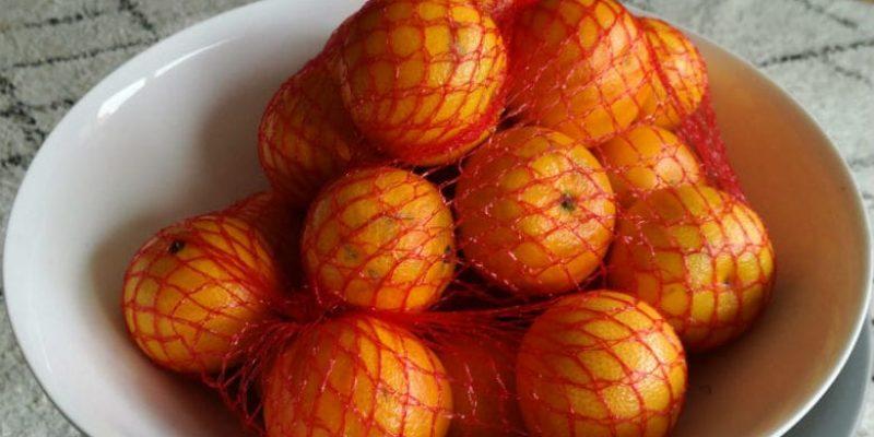Elle récupère des filets d'orange et en fait un objet étonnant