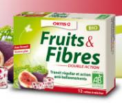 Recevez un échantillon du nouveau fruits & fibres double action bio