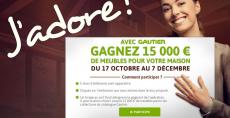 15000 € de meubles à gagner au concours Gautier !