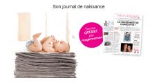 Créez gratuitement le journal de naissance de votre bébé