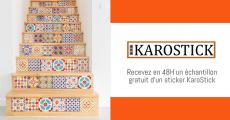 Recevez un échantillon gratuit des stickers carrelages Karostick