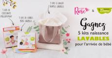 A gagner : 5 kits de naissance lavables de 72€