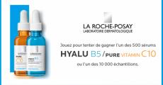10'000 échantillons et 500 sérums La Roche-Posay offerts 0 (0)