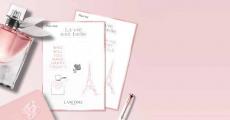 Offre de rapidité : planche de stickers Lancôme offerte sur simple demande