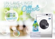 A gagner : 1 lave-linge séchant + 1 an de lessive