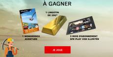 1 lingotin d'or et 10 coffrets Wonderbox à gagner ! 0 (0)