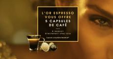Échantillons gratuits des capsules L'OR Espresso à recevoir par la poste