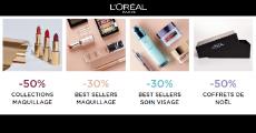 Jusqu'à -50% de réduction sur les produits L'Oréal