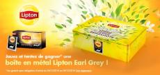 Une boîte en métal Lipton Earl Grey à gagner !