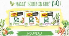 Gratuit : 2000 boîtes découverte MAGGI BOUILLON KUB BIO Légumes