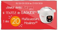 Tentez de remporter 20 robots cuiseurs Cookeo de Moulinex