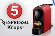 Gagnez 5 machines Nespresso Krups !