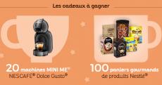 EN JEU : 20 machines à café Dolce Gusto + 100 paniers gourmands Nestlé ! 0 (0)