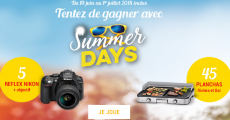 Offerts : 5 appareils photo Reflex Nikon et 45 planchas Riviera & Bar
