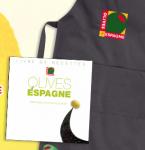 20 tabliers et 20 livres de recettes Les Olives d'Espagne!