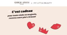 Pin's Armani gratuit sur simple visite !
