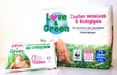 Recevez GRATUITEMENT 200 couches Love and green ! 0 (0)