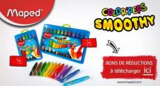 Obtenez de superbes réductions sur les crayons Maped Smoothie