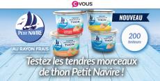 200 boîtes de thon Petit Navire offertes !