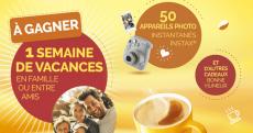 A remporter : 50 appareils photos Instax Mini 9, 1 voyage de 6000€ et+