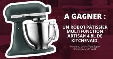 A gagner : 1 robot pâtissier KitchenAid de 749€