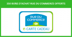 350 bons d'achat Rue du Commerce à gagner 0 (0)