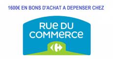 Tentez de gagner 1600€ en bons d'achat Rue du Commerce 0 (0)