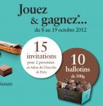 30 invitations Salon du Chocolat et 10 paniers à gagner!