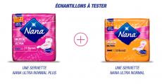 Echantillons gratuits des serviettes hygiéniques Nana ! 0 (0)