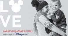 1000 € de shopping OFFERTE chez GAP et Disney Store