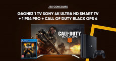 1 smart TV Sony 4K Ultra HD à remporter !