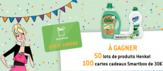 Lessives Le Chat et Mir et coffrets Smartbox à gagner !