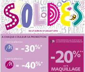 Marionnaud: Soldes 30% 40% et 60% de réduction!