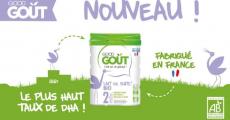Boîtes de lait de suite Bio Good Goût offertes