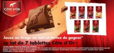 100 lots de 7 tablettes de chocolat Côte d'Or à gagner !