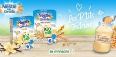 1500 paquets de Nestlé P'tite Céréale BIO gratuits