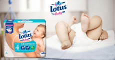 1800 couches Lotus Baby Natural Touch offertes
