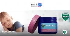 5000 baumes de massage apaisants Vicks VapoEnfant gratuits